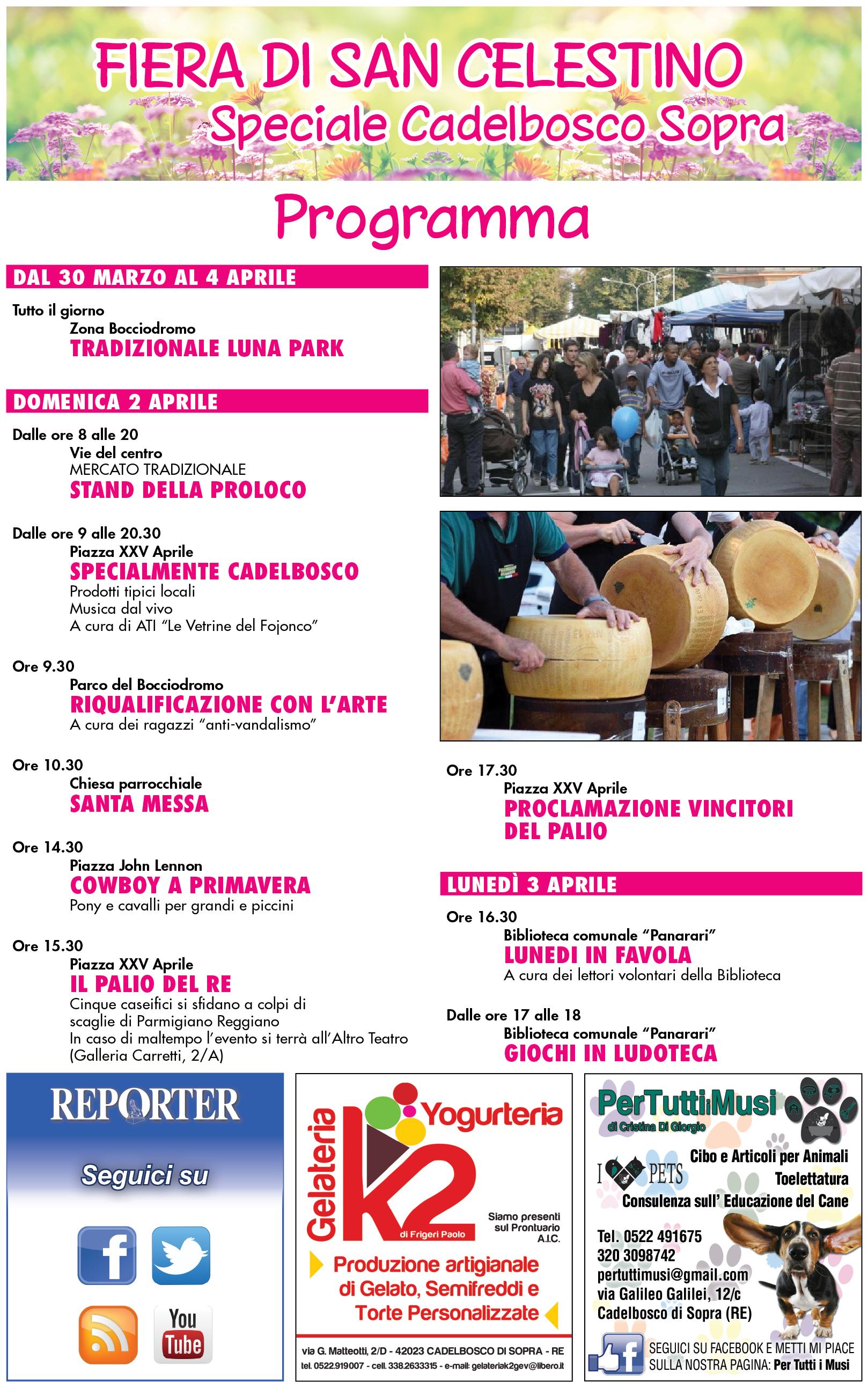 Programma Fiera di San Celestino a Cadelbosco Sopra