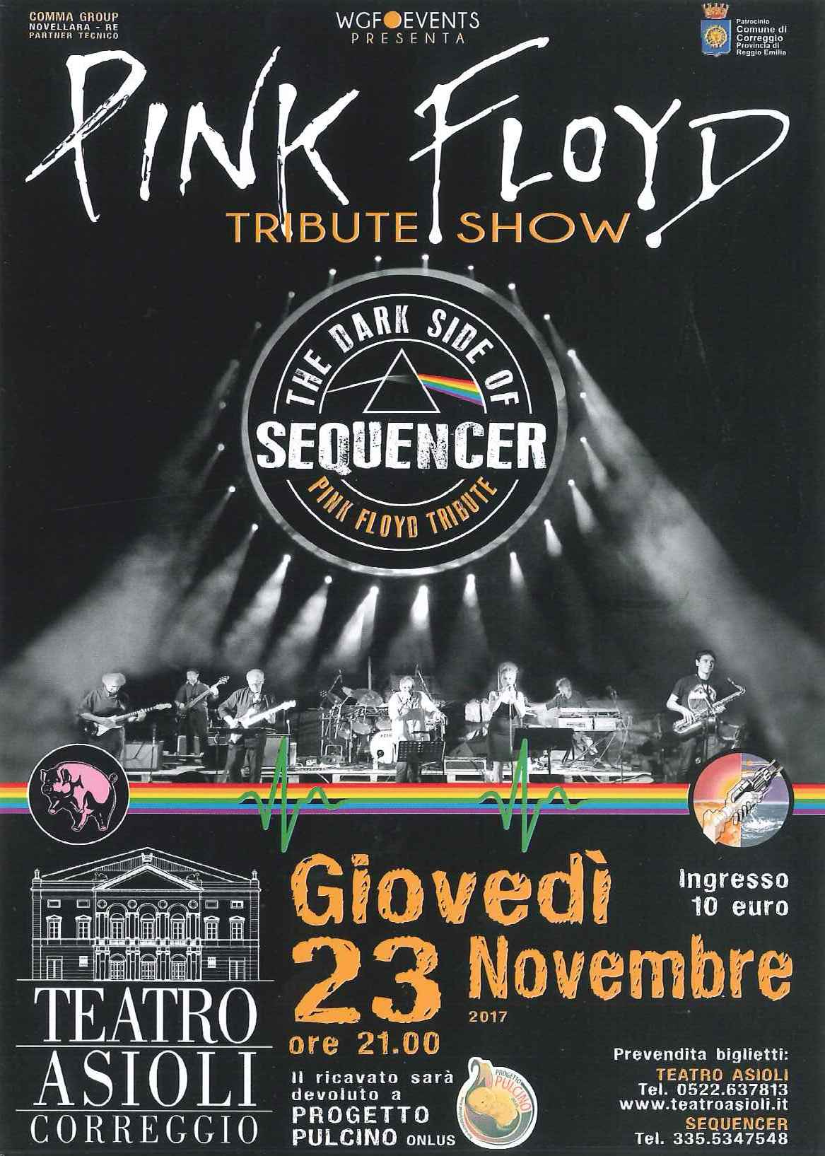Correggio: I Sequencer portano all'Asilo le musiche dei PINK FLOYD