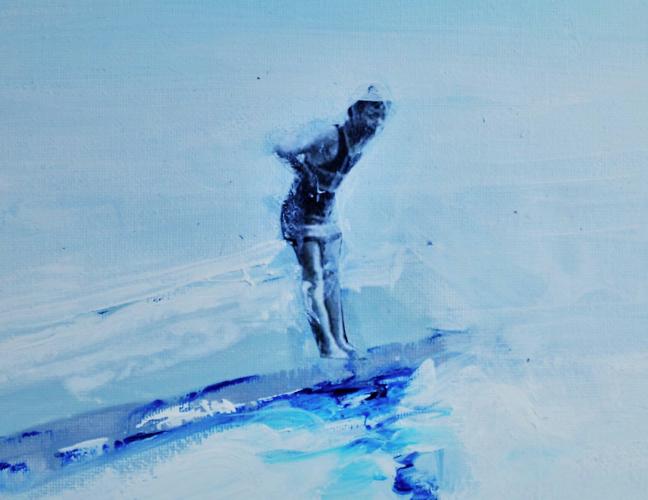 """I """"nuotatori"""" di Alketa Bercaj Delishaj alla Galleria 8,75"""